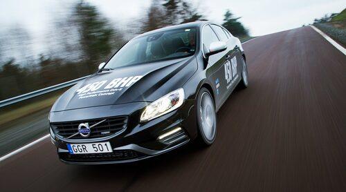 Konceptmotorn sitter monterad i fyrhjulsdrivna S60 Polestar för bäst utnyttjande av all fartprestanda.