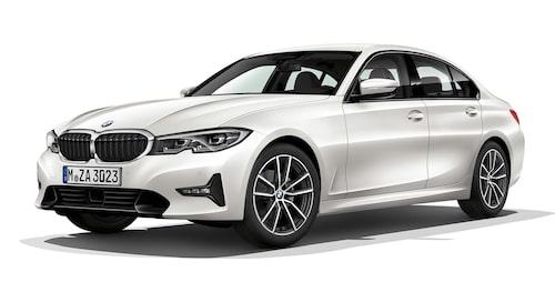 Nya BMW 3-serie med G20-kaross, det vill säga sedankaross.