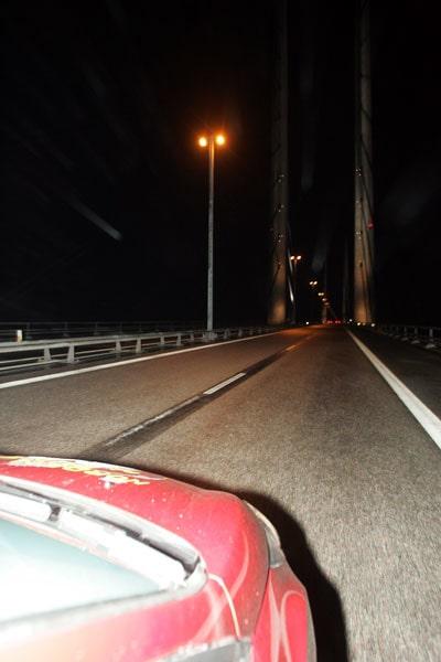 Sedan över till Danmark via Öresundsbron.