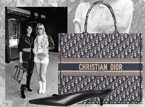Väska från Dior, skor från Totême.