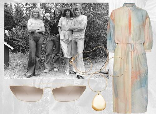 Klänning från Inwear, solglasögon från Prada, halsband från Efva Attling.