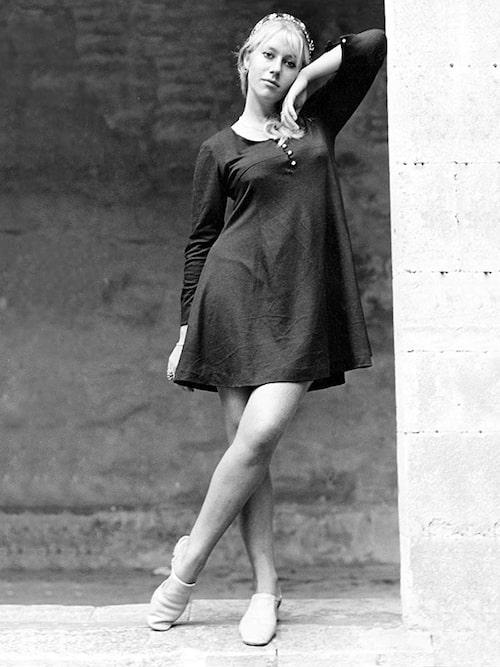 Helen Mirren som 23-åring, 1968. Det var runt den här tiden som en spådam sa till henne att hon skulle slå igenom - tjugo år senare.