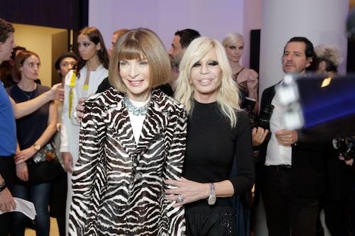Donatella tillsammans med Anna Wintour.