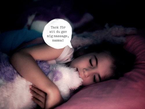 Kan nattrutinen innefatta mer närhet för att förebygga nattskräck? Kanske en massage?