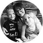 mamas redaktör Lisa Nylén har upplevt nattskräck med båda barnen Axel och Nina.