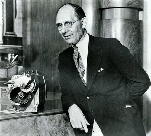 Mannen som knäckte elbilarna – Charles F Kettering. Han konstruerade den elektriska startmotorn.