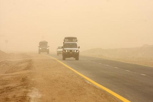 Sandstorm mellan Wadi Halfa och Khartoum.
