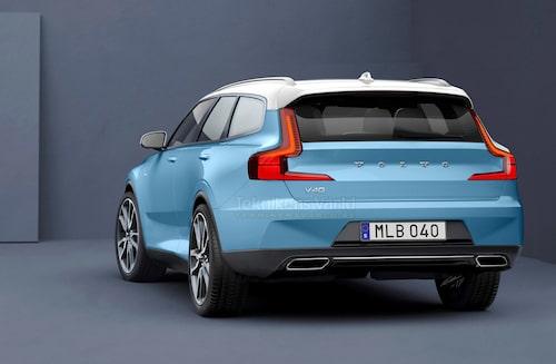 Precis som XC40 ska nya V40 gå att utrusta med kontrasterande takfärg.