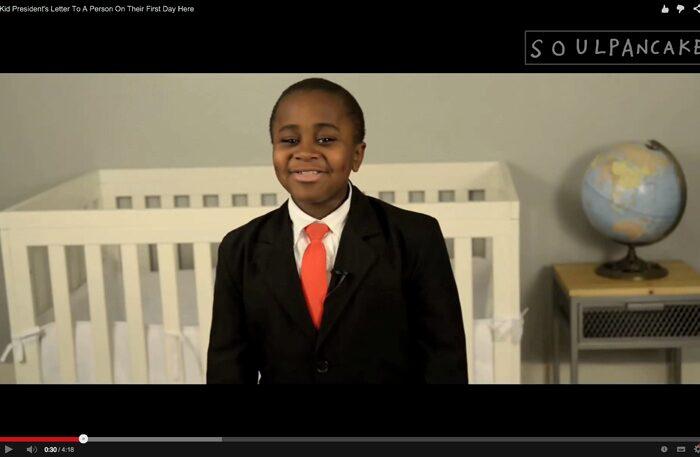 Kid President har några kloka råd att ge alla nya människor.