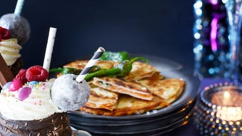 Recept på quesadillas med sötpotatis och ädelost.