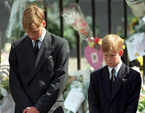 1997 dör prinsessan Diana i en bilkrasch och lämnar efter sig två söner i djup sorg.
