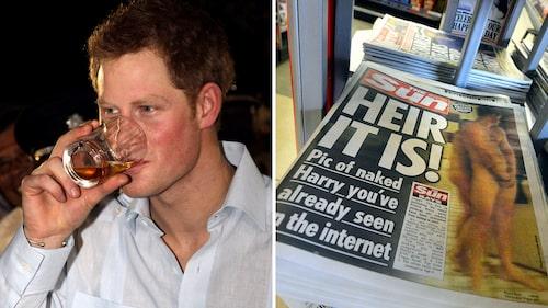 Harry har haft sina festligare perioder. Oops! En prinskorv på vift skapade stora rubriker.
