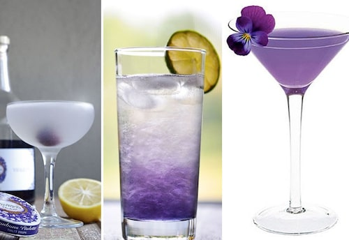 Viollikör i anrika cocktails – 'The Aviation', 'The Blue Moon' eller 'The Moonlight'.
