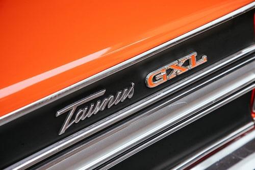 """Tuffast i stan. GXL var """"värstingen"""" i Taunus-stallet och visade på rymligare plånbok än grannen. Snygga emblem var standard!"""