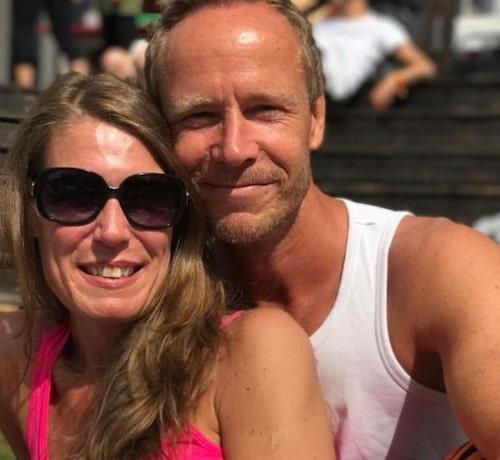Martina och hennes pojkvän Linus.