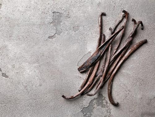 Vaniljstången delas på längden för att lättast få ut fröna.