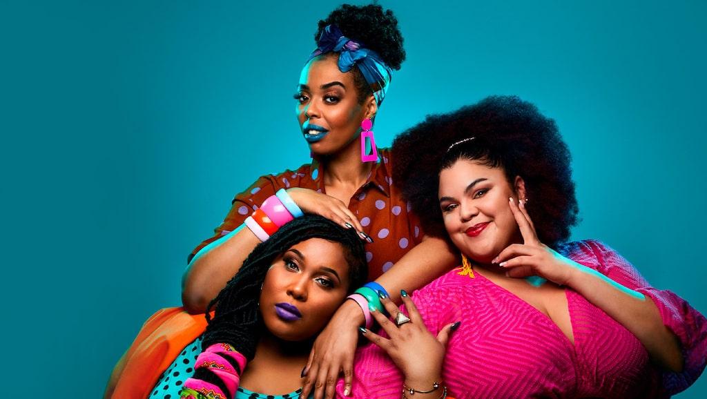 The Mamas består av (uppifrån) Dinah Yonas Manna, Ashley Haynes och Loulou LaMotte, men det är faktiskt bara Dinah och Loulou som är just mammor.