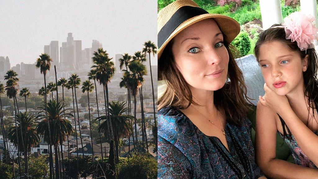 Malin Eklund bor i Los Angeles med maken Sigge samt barnen Viggo, Truls och Belle (bilden).