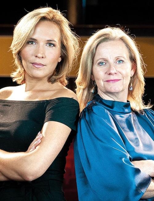 Fanny Widman tillsammans med Hélène Barnekow, vd för Microsoft Sverige och gäst i podden Fannys förebilder.
