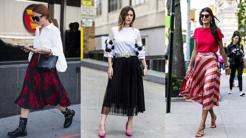 Matcha din kjol med boots, pumps eller sandaler.