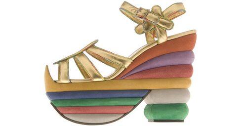 Rainbow sandaler från Salvatore Ferragamo.