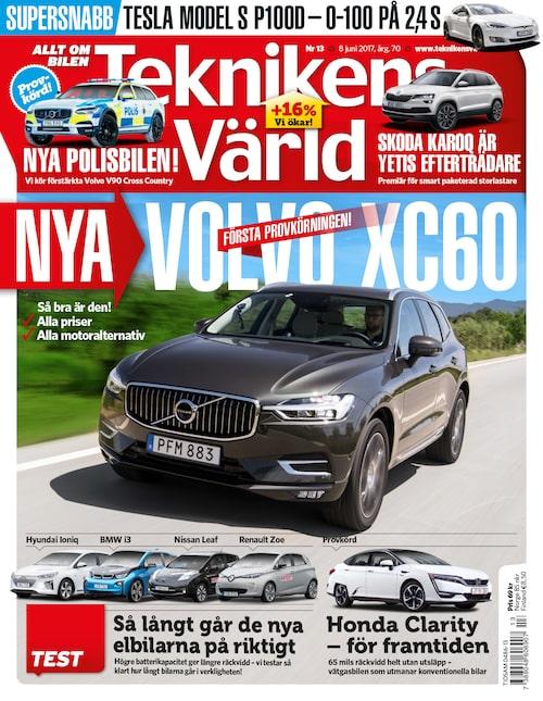 I Teknikens Värld nummer 13/2017 bjuds du på allt om hur nya Volvo XC60 upplevs.