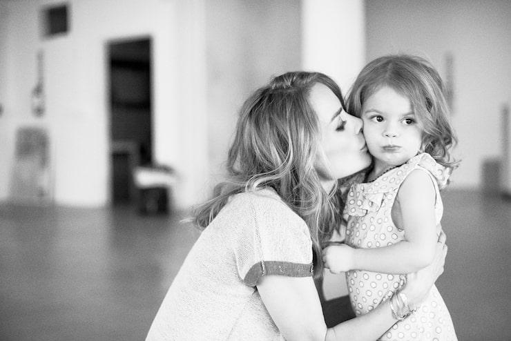 Anine med dottern Bianca.