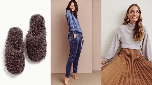 Mysig loungewear och lyxig sidenpyjamas.