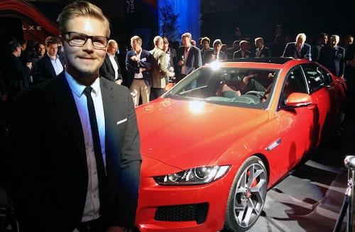 Teknikens Världs Robin Törnros, enda svensk på plats, bevittnar världspremiären av Jaguar XE. Läs mer om det i kommande nummer av tidningen.