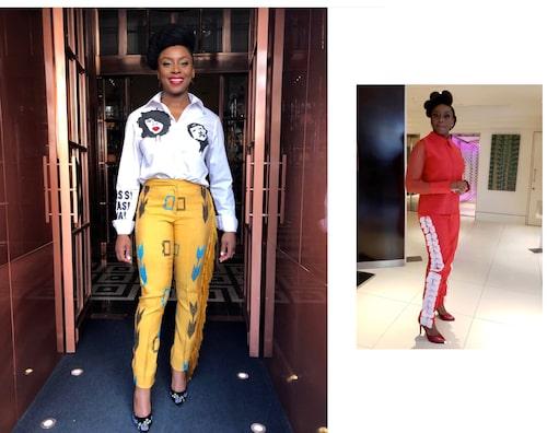 Till vänster: Byxor från Emmy Kasbit och skjorta från Popartii.Till höger: Topp och byxor från Lola Baéj.