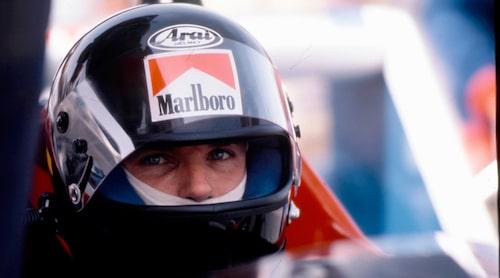 Under sin tid hos Toleman körde han i par med Ayrton Senna under tre lopp. Foto: Teknikens Världs arkiv