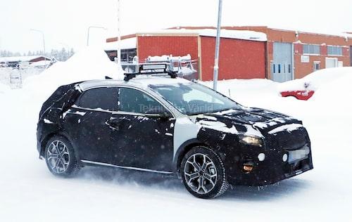XCeed-prototyp som nyligen fotograferades i Arjeplog med omnejd.