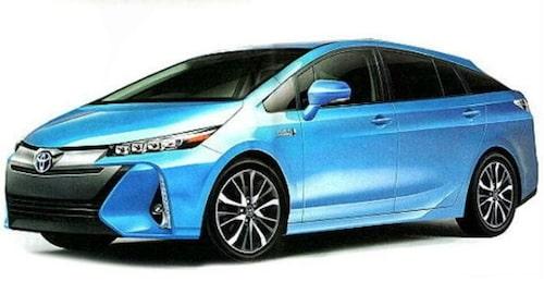 Här ser vi nya Prius i ett annat utförande. Exakt vad detta utseende illustrerar för modellversion kan vi inte utläsa på det taiwanesiska forumet.