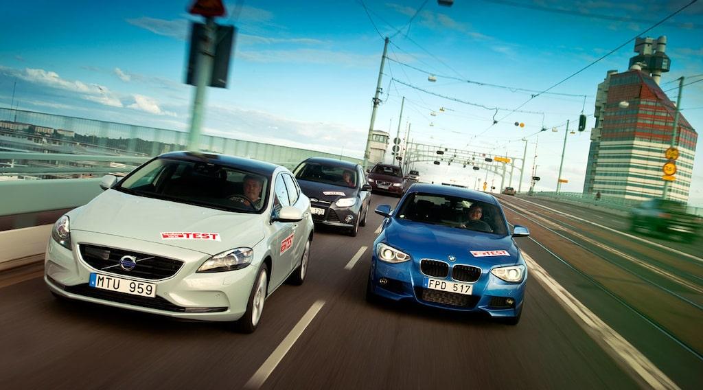 Volvo V40, BMW 1-serie och Ford Focus