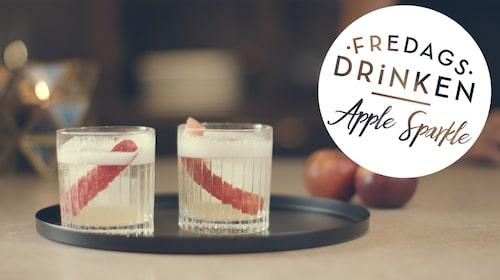 Recept på drinken Apple Sparkle.