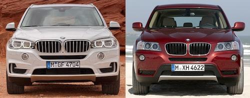 BMW X5 jämfört med X3.