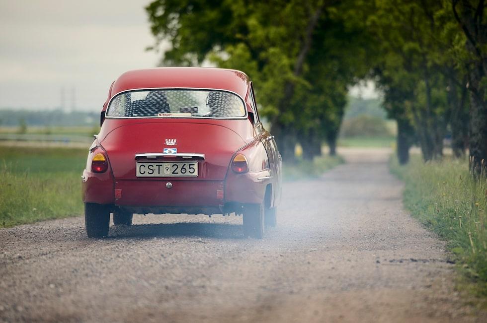 Detta skulle kunna vara en vanlig Saab 96, men det är det verkligen INTE!