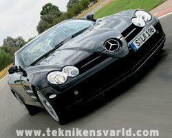 Provkörning av Mercedes SLR McLaren