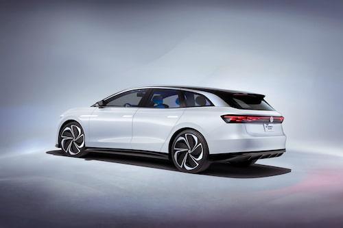 Elektriska konceptbilen Volkswagen ID. Vizzion. Ska inom ett par år bli en familjekombi inom ID-konceptet.