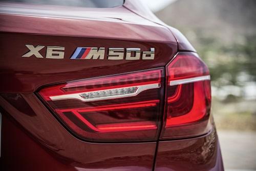 X6 M50d är värstingen på dieselsidan. 381 hk och 740 Nm.