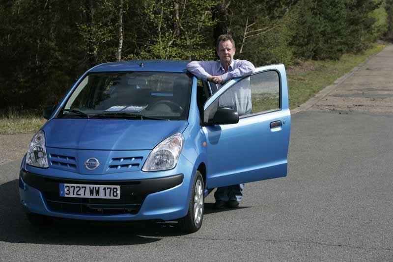 Teknikens Världs PeO Kjellström gillar ljudnivån i nya Nissan Pixo.