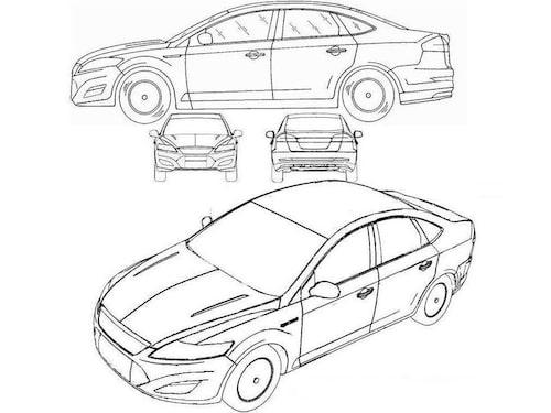Läckta skisser på Ford Mondeo årsmodell 2010.