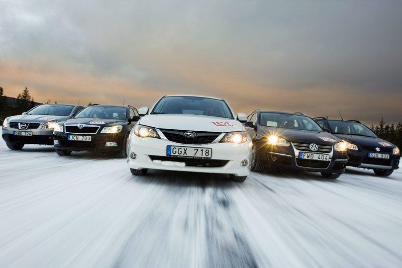 Nissan Qashqai, Skoda Octavia, Subaru Impreza, Volkswagen Golf och Suzuki SX4.