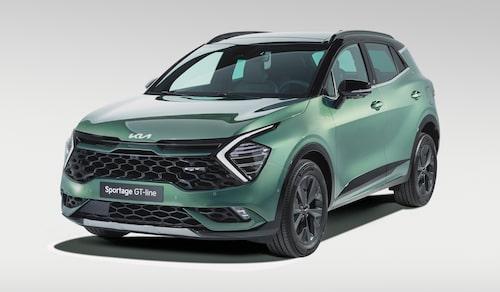Det är inte enbart elbilar på plats i montrarna i München. En icke hel-elektrisk modell är nya Kia Sportage som presenteras i Europa-utförande.
