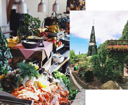 På Vellingeblomman kan man både äta gott och uppleva fina miljöer.