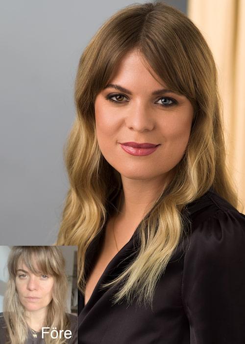 """Rebecca Klüger: """"Jag älskar mina olikfärgade ögon, med Masterpiece Max mascara kan jag framhäva dem ännu mer."""""""