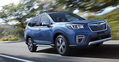Subaru Forester e-Boxer så som den presenterades i Asien för en månad sedan.