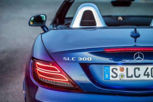 """Trots att SLK så smått kommit att bli ett """"varumärke"""" ändras namnet till SLC."""