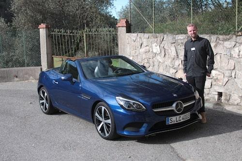 Två stjärnor: Vår utsände Erik Andrén och Mercedes SLC.