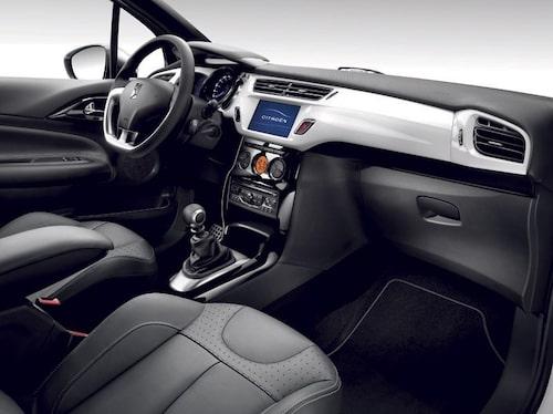 Citroën DS3 prisades för sin interiör.